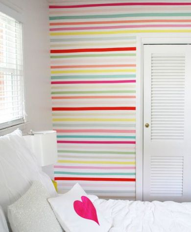 washi tape wall ideas13