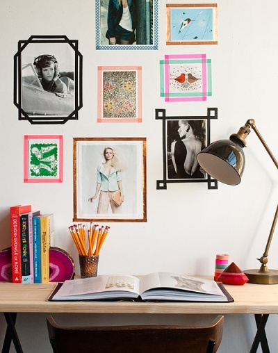 washi tape wall ideas18