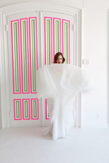 washi tape wall ideas21