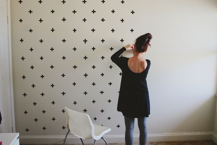 washi tape wall ideas23
