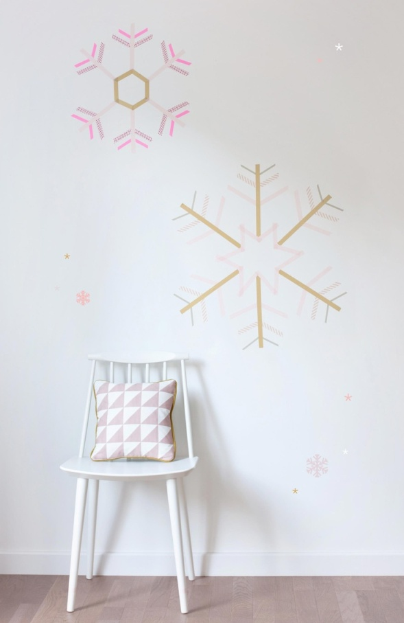 washi tape wall ideas9